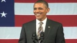 奥巴马总统在筹款活动上展歌喉