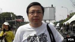 綠色公民行動聯盟理事長賴偉傑(美國之音申華拍攝)