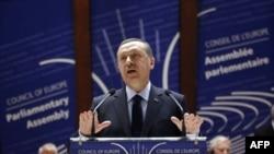 Erdoğan Avrupa Konseyi Parlamenterler Asamblesi'nde konuşurken