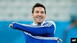 Siêu sao Lionel Messi của tuyển Argentina.