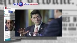 VOA60 Elections - CNN: House Republicans unanimously re-elected Paul Ryan as the House Speaker