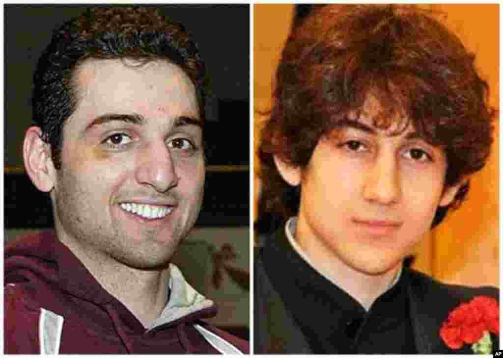 보스톤 테러 용의자 타메를란(왼쪽)과 조하르(오른쪽) 차르나예프 형제. 타메를란은 연방 수사국과 총격전으로 사망하고 조하르는 생포되었다