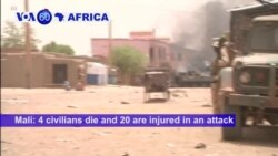 VOA60 Africa- 4 civilians die and 20 are injured in an attack against French-Malian patrol in Gao