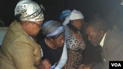 Mrs. Joice Mujuru attending a funeral ceremony in Zvimba communal lands.