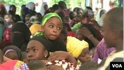 FILE - Children on the streets asking for education and to be spared from the separatist war, Aug. 31, 2019, in Bamenda, Cameroon. (Moki Kindzeka/VOA)