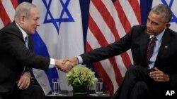 Премьер-министр Израиля Биньямин Нетаньяху и президент США Барак Обама