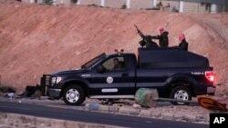 Pasukan keamanan Yordania meninggalkan penjara Swaqa setelah eksekusi terhadap Sajida al-Rishawi dan Ziad al-Karbouly, Rabu pagi (4/2).