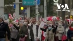 Пенсіонери Білорусі у понеділок вийшли на марш протесту. Відео