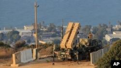 이스라엘 북부 하이파에 배치된 패트리어트 미사일
