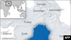 伊拉克地理位置图 (档案图片)