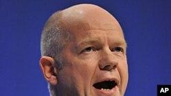 Britain's Foreign Secretary William Hague, October 5, 2011.