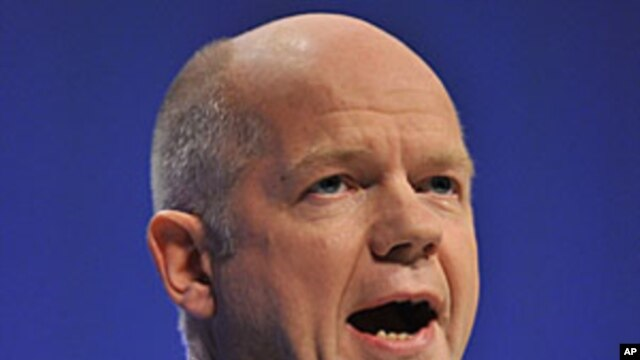 Britain's Foreign Secretary William Hague, October 5, 2011.