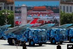 北京大阅兵中展示的鹰击反舰巡航导弹(2015年9月3日)