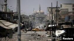 Pemandangan sebagian wilayah Mosul barat, Irak pada Senin 29 Mei 2017 di mana sisa-sisa militan ISIS masih bertahan (foto: dok).