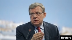 Russia's former finance minister, Alexei Kudrin, speaks during a session of the St. Petersburg International Economic Forum 2015 in St. Petersburg, Russia, June 18, 2015.