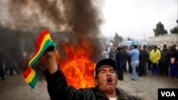 El gobierno de Morales ya experimentó severas protestas por el alza de precios del combustible meses atrás.