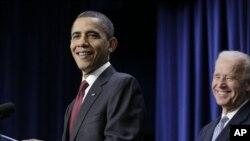 سهرۆک ئۆباما و جۆ بایدنی جێـگری، (ئهرشیفی وێنه)