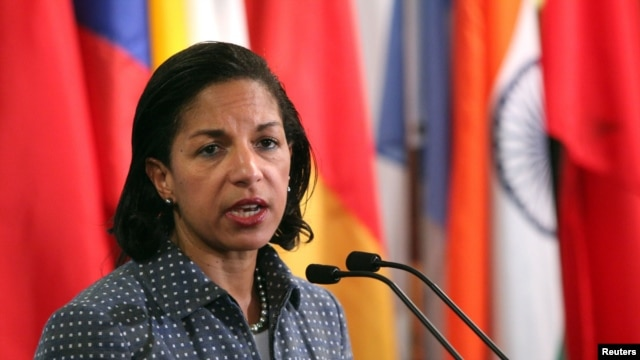 U.S. ambassador to the United Nations Susan Rice.