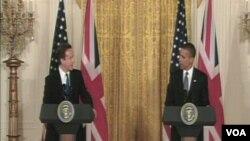 Britanski premijer David Cameron i predsjednik SAD Barack Obama, na zajedničkoj press konferenciji u Bijeloj kući u Washingtonu