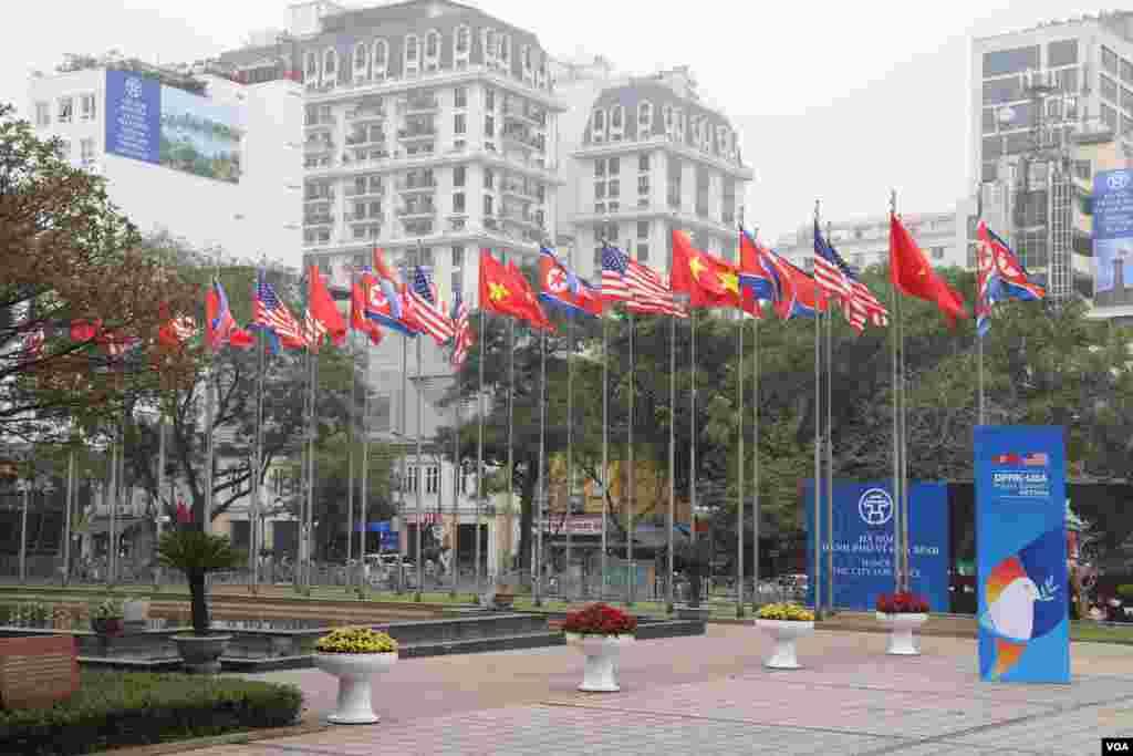روز دوم نشست ترامپ - کیم | مرکز رسانهای هانوی در مرکز شهر قرار دارد. و میزبان بیش از سه هزار خبرنگار است.