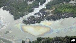 Une fuite de pétrole près de Port Harcourt au Nigéria