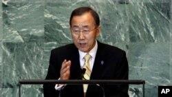 联合国秘书长潘基文9月21日在联合国大会上讲话