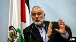 Le chef de file du Hamas, Ismaïl Haniyeh, à Gaza, le 23 janvier 2018.
