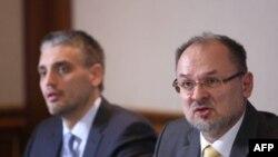 Lider LDP-a Čedomir Jovanović i specijalni izveztilac Evropskog parlamenta za Srbiju Jelko Kacin