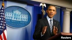 지난 6일 미국 백악관에서 바락 오바마 미국 대통령이 우크라이나 사태에 관한 기자회견을 가졌다.