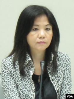 台灣在野黨民進黨立委 葉宜津(美國之音張永泰拍攝)