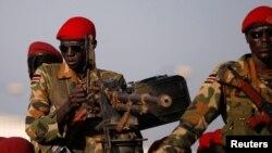 Abasirikare ba SPLA, k'Umurwa mukuru wa Sudani y'Ubumanuko, i Juba.