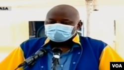 Vital Kamerhe, directeur ya cabinet ya président Félix Tshisekedi, na bosambisami na boloko ya Makala, Kinshasa, 11 mai 2020.