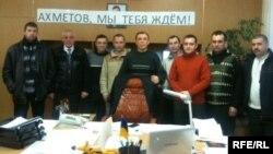 Протест шахтарів на Луганщині, 10 січня 2013 року (фото зі сторінки Facebook Костянтина Ільченка http://www.facebook.com/IlchenkoK)