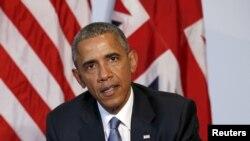El presidente Barack Obama en la cumber del G7 en Kruen, Alemania.