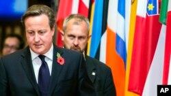 PM Inggris David Cameron menghadiri pertemuan Uni Eropa di Brussels, Belgia (foto: dok).