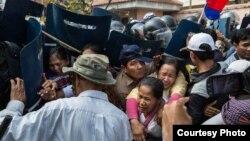 Sebuah demonstrasi di Phnom Penh, Kamboja. (Foto: Dok)
