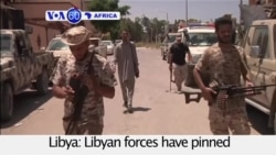 VOA60 Africa - Libyan forces have pinned ISIS militants into a small area in Sirte
