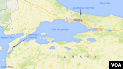 The Bosphorus and Dardanelles waterways in Turkey