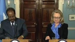 索馬里新總統在和美國總統和國務卿會面