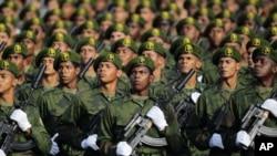 古巴舉行閱兵儀式。