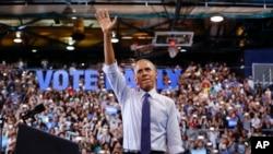 Tổng thống Mỹ Barack Obama đang chứng tỏ mình là một trong những người ủng hộ mạnh mẽ nhất của ứng cử viên tổng thống Đảng Dân chủ Hillary Clinton.