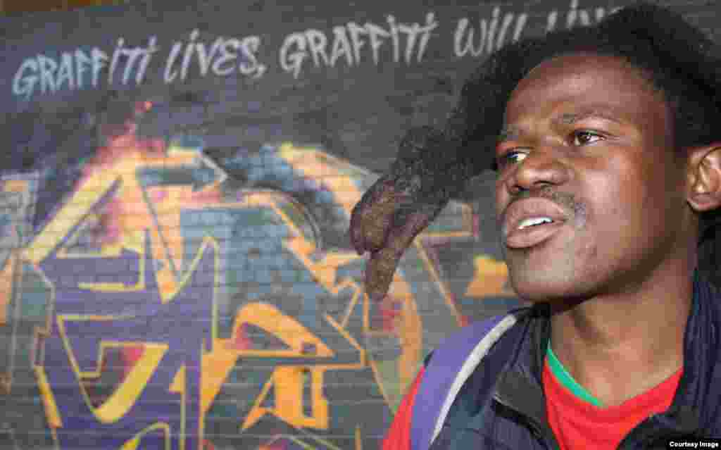 Sandile Radebe is now a long way away from his previous life as a graffiti renegade on the streets of Johannesburg [Photo: Darren Taylor]
