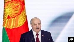 بیلارس کے صدر الیگزینڈر لوکاشینکو (فائل فوٹو)