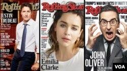 از کمدین (جان اولیور) تا بازیگر (امیلیا کلارک) و سیاستمدار (جاستین ترودو) روی صفحه اول این مجله قرار گرفته اند.