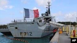 Fransız donanmasına ait Courbet fırkateyni, Doğu Akdeniz'de Avrasya Shipping'e ait Çirkin kargo gemisini denetlemek istemişti.