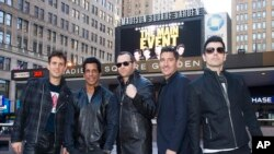"""New Kids on the Block"" realizaron la conferencia de prensa de su nueva gira en el Madison Square Garden."