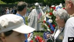 미국 워싱턴의 한국전쟁 참전용사 기념공원. (자료사진)