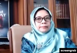 Ketua Pimpinan Pusat Aisyiyah Noordjannah Djohantini. (Foto: Screengrab)