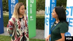 Tatyana Sin, Uzbekistan, UN Youth Climate Summit 2019, talks to VOA's Navbahor Imamova, New York September 23, 2019