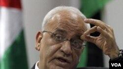 Ketua perunding Palestina, Saeb Erekat (2/1).
